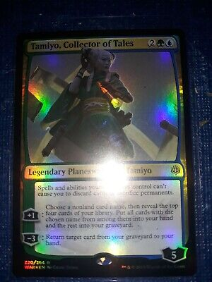 Magic the Gathering: Tamiyo, Collector of Tales FOIL x1 - War of the Spark - MTG