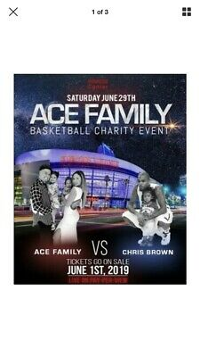 ACE FAMILY vs.Chris Brown Charity Basketball Event - 2 Tickets PREMIUM SEATS!