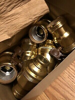 Lot Of 10 NOS New Old Stock Light Fixture Or Lamp Turnkey Sockets GE