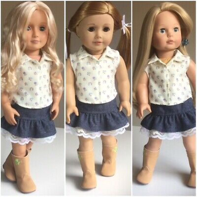 """Fit American Girl And Our Generation. Skirt And Shirt And ONLY 18"""" Doll Clothes."""