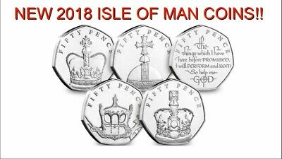 The Sapphire Coronation Fifty Pence Coin Set - 50p Collection isle of man iom