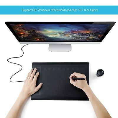 "Huion 1060 Pro+ Graphics Tablet  Drawing Painting Pen 10"" x 6.25"" Artist + Gift"