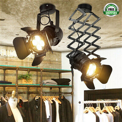 Retro Industrial LED Ceiling Light Stretch Light Indoor LED Lamp for Cloth Club