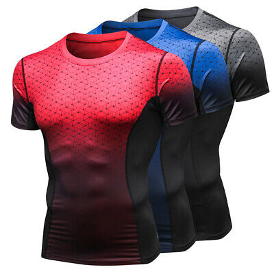 Men Gym Sports Top Breathable Training T-shirt Wicking Quick Dry Running shirt