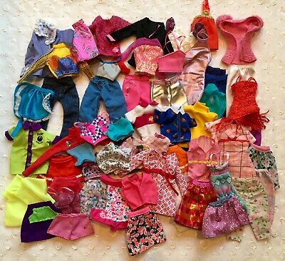 Mixed Lot Barbie Doll Clothes Pants Dresses Skirts  Superman Shirt