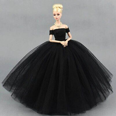 Black Little Dress Wedding Dresses for Barbie Doll Clothes Party Gown Outfits