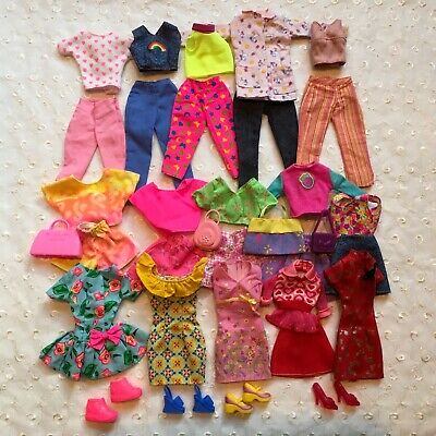 Lot Barbie Doll Play Clothes Dresses Skirts Shoes Happy Family Pants Doctor Coat