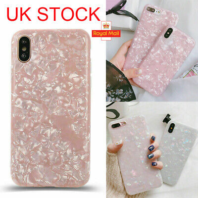 For iPhone 8 7 6 Plus XS Max XR Marble Shockproof Protective Case Cover Silicone