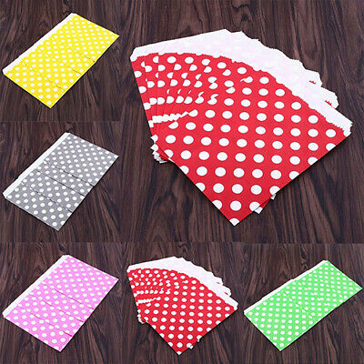 25Pcs Polka Dot Treat Candy Favor Sacks Paper Bags For Party Wedding Cheerful