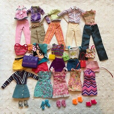 Lot Barbie Doll Clothes Dresses Shoes  Happy Family Pants Shirt Minnie Mouse