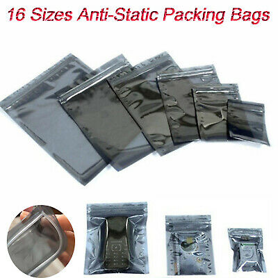 Anti-Static ESD Shielding Bag Translucent ZipLock Resealable Storage Packing Bag