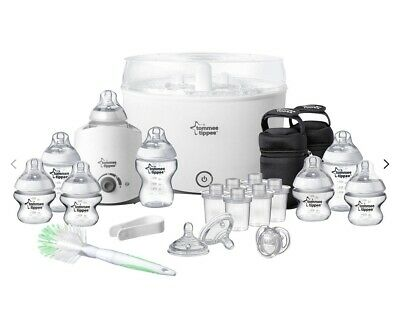 New Tommee Tippee Closer To Nature Complete Starter Kit Steriliser Bottles Set