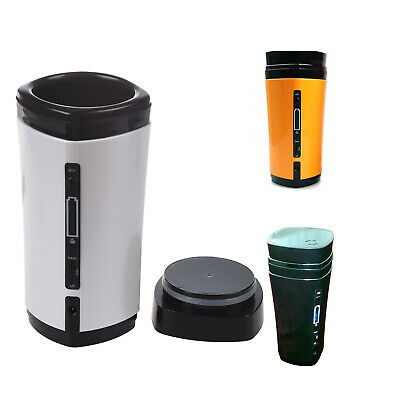 5X(Rechargeable USB Powered Coffee Tea Cup Mug Warmer Automatic Stirring L4C4)