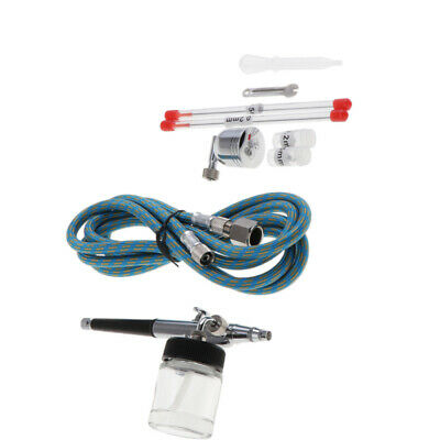 Suction Feed Air Brush Spray Gun Kit Airbrushes Double Action Spray Metal
