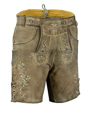 German Bavarian Oktoberfest Tradtional Trachten Antik Lederhosen - Sizes Avail