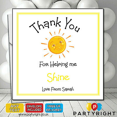 Personalised Teacher Nursery Child Minder School Thank you card Making Me Shine