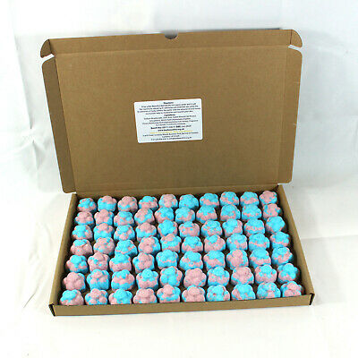 Bath Bombs Fruit Salad scented 70 x 10g Flowers less mess reduced plastic