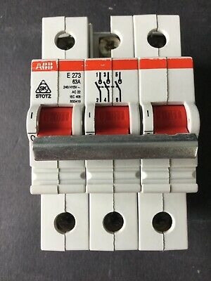 ABB E273 63A 3 Phase Main Switch Isolator