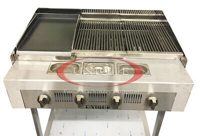 4 Burner Gas Charcoal Bbq Grill/Char-Grill Heavy Duty For Commercial Use