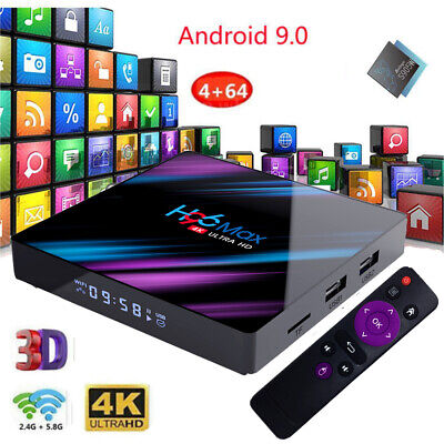 H96 MAX 4GB+64GB Android 9.0 4K TV Box RK3318 USB3.0 64 Bit UHD Media Player