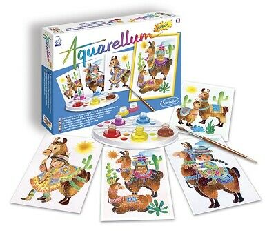 Aquarellum Junior Painting By Numbers, Llamas - Kids Art Sets