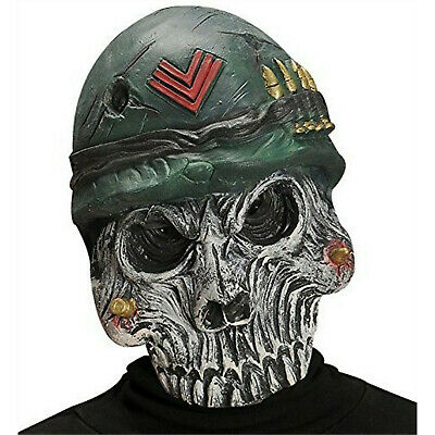 Velocitee Mens Hoodie Military Army Soldier Skull A20482