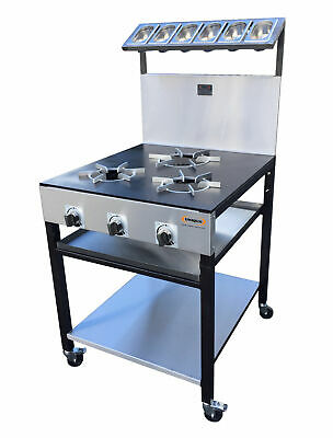 3 Burner Commercial Cooker For Restaurant Or Takeaway Use