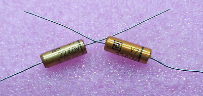 2 PCS. ROE (Roederstein) high end audio axial electrolytic capacitor 22uf/40V