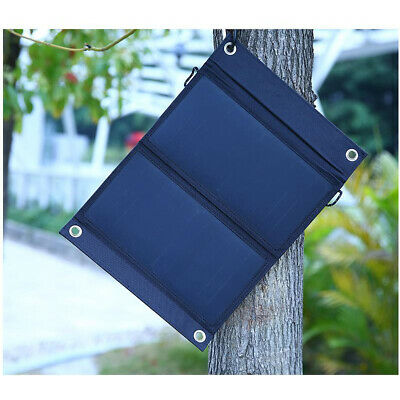 15W Dual USB Solar Power Bank Fold Panel Portable External Battery Charger phone
