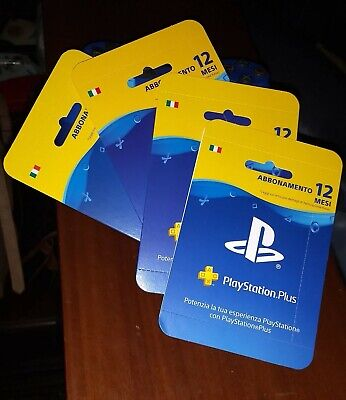 Abbonamento PLAYSTATION PLUS 12 Mesi - PS4/ PS3/ PS Vita - ITALIANO PSN