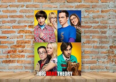 The Big Bang Theory TV Show Poster Canvas Art Print (Framed Option) - A3 A4