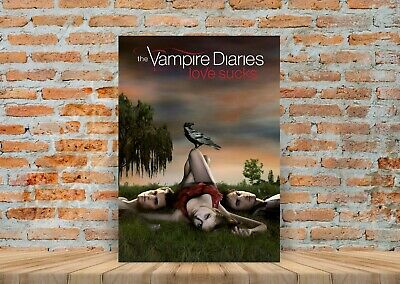 The Vampire Diaries TV Show Poster Canvas Art Print (Framed Option) - A3 A4