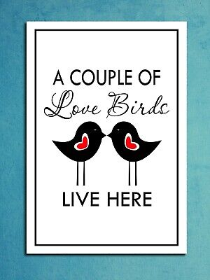 Metal signs plaques Love birds Live here printed quotes wall art home decor