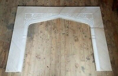 Victorian Era Carved Marble Mantle