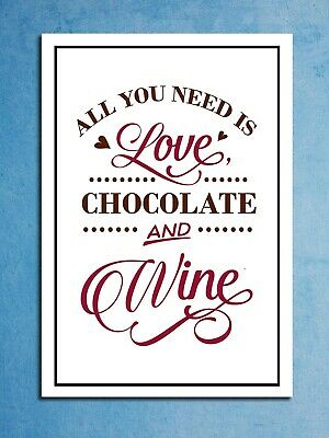 Metal signs plaques All you need is Love Wine printed quotes wall art home decor