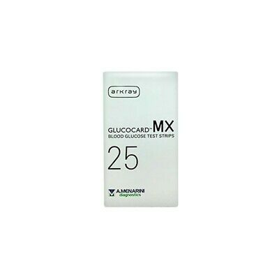 MENARINI DIAGNOSTICS Strips Glucocard Mx Blood Glucose For Blood Sugar 25 Pieces