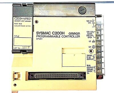 Used - Omron Controlller Sysmac C200H-CPU01-E CPU Unit  for C200H PLC