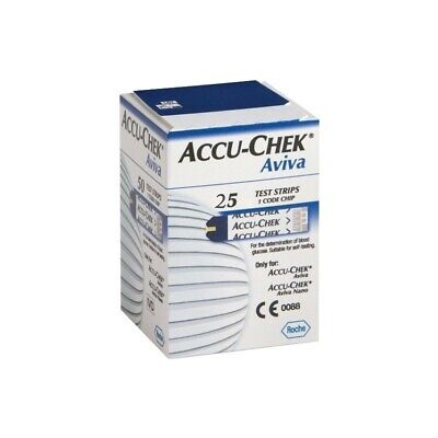 ACCU-CHEK Aviva Test Strips For Blood Sugar Pack 25 Pieces