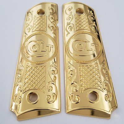 FIT 1911 GRIPS PISTOL Colt GRIPS Full Size Government Gold Plated