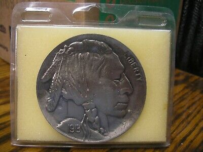 Buffalo Nickel Belt Buckle, Mint Condition, Dated 1913, Gives History Of Buckle