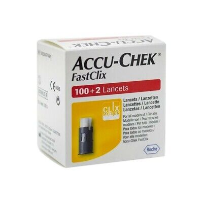 ACCU-CHEK Fastclix Lancets For Blood Glucose Meters 102 Pieces
