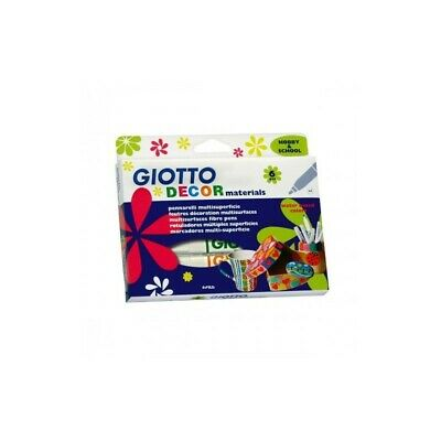 GIOTTO decor materials 6 multi-surface markers - assorted colours
