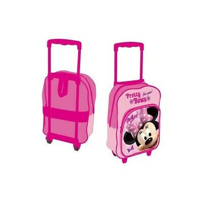 DISNEY school backpack with trolley with Minnie pretty bows character