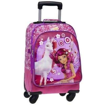GIOCHI PREZIOSI school backpack with trolley with mia and me character 47 cm
