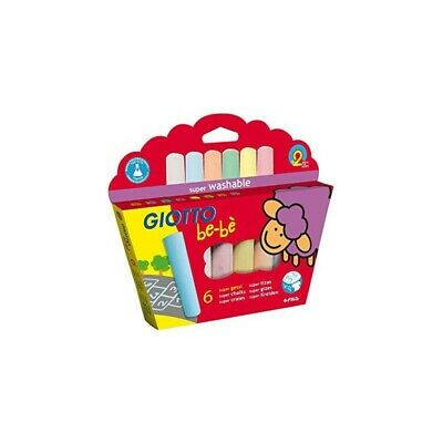 GIOTTO bebè pouch 6 superchalks assorted colours 2 years +