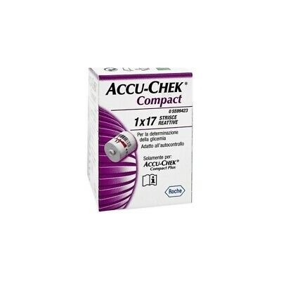 ACCU-CHEK Compact Test Strips For Measuring Blood Glucose Pack 17 Pieces