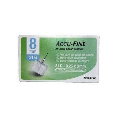 MENARINI Needle for insulin pen - glucoject pen needles - length 8 mm gauge 31 1