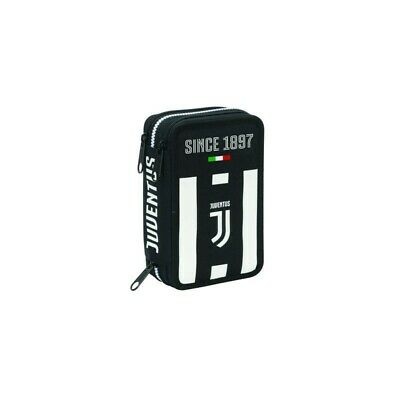 SEVEN pencil case for school with 3 zip Juventus club soccer
