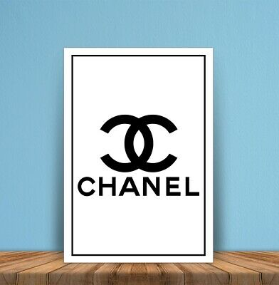 Metal signs plaques Chanel Logo perfume printed quotes wall art home decor