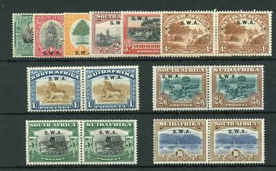 South West Africa 1927-30 set SG58/64 MLH/MM cat £225
